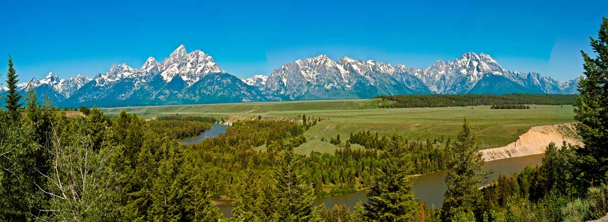 The Snake River Tetons
